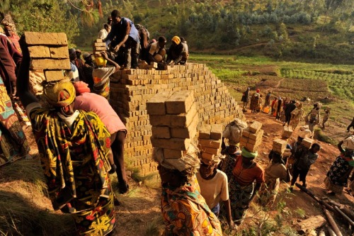 Brick-making in Nyaruguru.