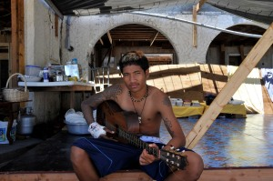 Eddie Boy Tiafane, tsunami survivor. (Laura Reinhardt/WV)