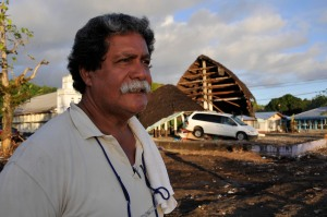 Robert Toelupe's home was destroyed by the tsunami, but his family survived. (Laura Reinhardt/WV)