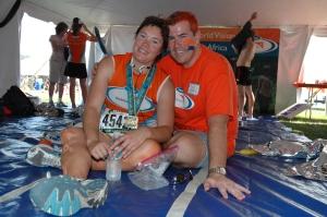 Deanna and Marc Valadez at the 2007 Chicago Marathon. (James Addis/WV)