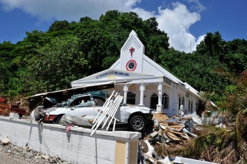 A church in Peloa village. (Laura Reinhardt/WV)