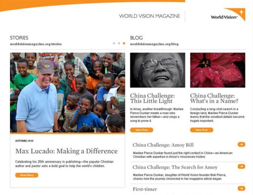 World Vision magazine